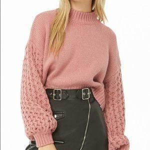 💜 XXI Ribbed Balloon Sleeve Sweater